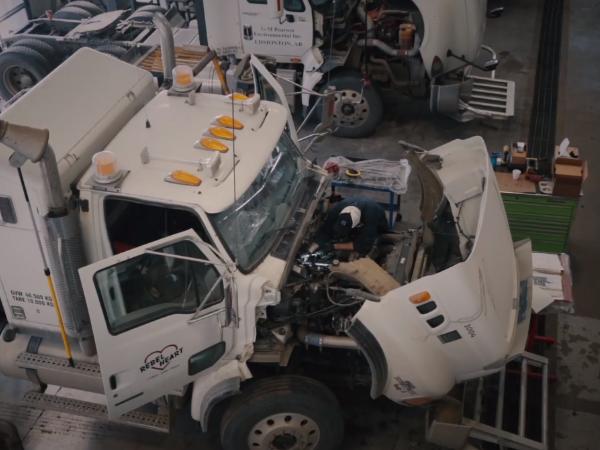 Tuck repair services being performed by Major Overhaul  in Edmonton